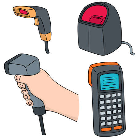 reader: vector set of barcode reader Illustration