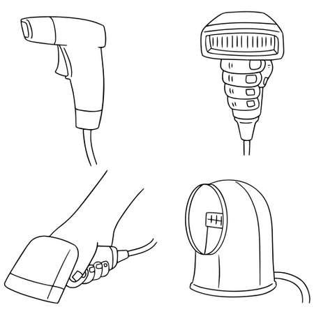 reader: vector set of barcode reader Illustration