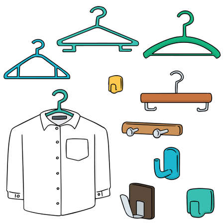 vector set of hangers