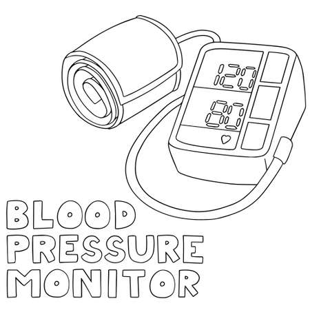blood pressure monitor: vector set of blood pressure monitor
