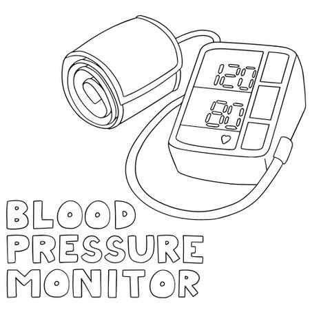 blood pressure monitor: vector set of blood pressure monitor