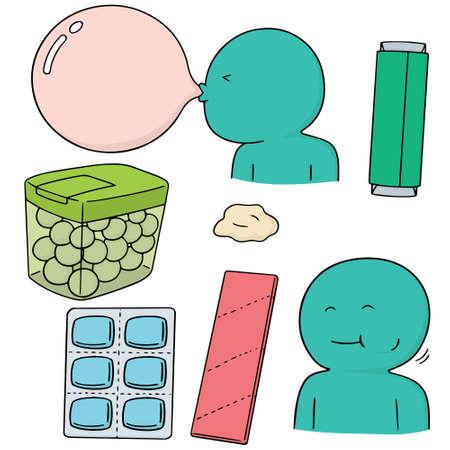bubble gum: vector set of bubble gum Illustration