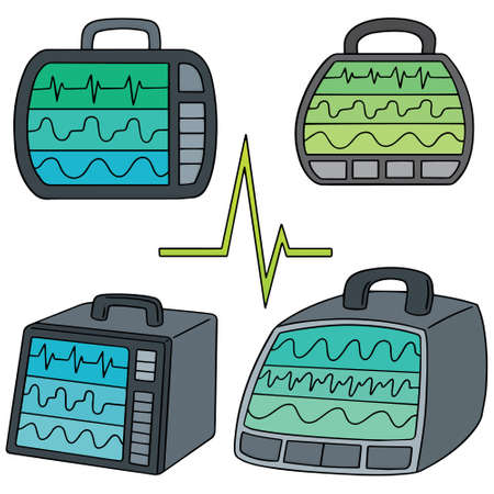 vital: vector set of vital sign monitor