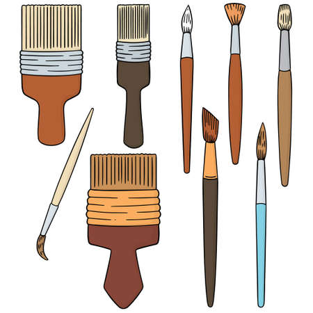 illustrating: vector set of paintbrush