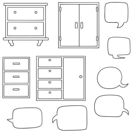 drawer: vector set of drawer