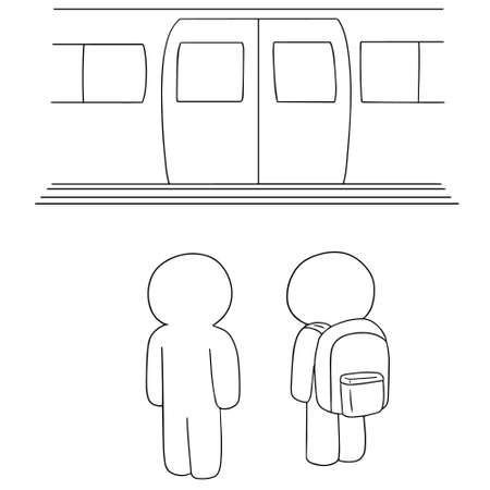 electric train: vector set of electric train