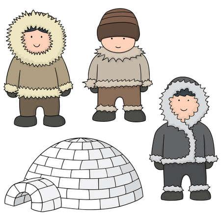 eskimo: vector set of eskimo Illustration