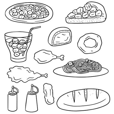 vector set of fastfood