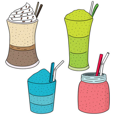 smoothie: vector set of smoothie
