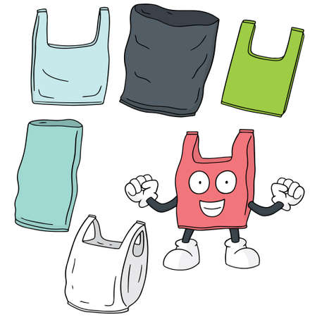 plastic bag: vector set of plastic bag