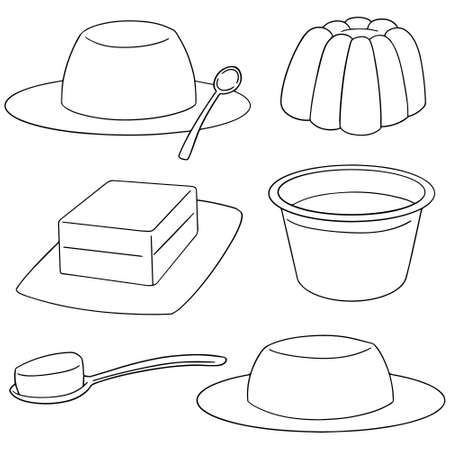 mould: vector set of jelly