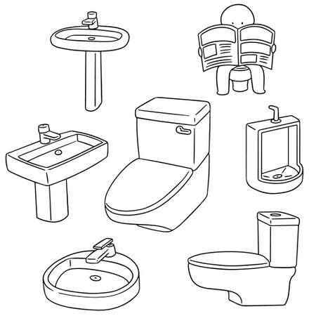 sanitary: vector set of sanitary ware Illustration