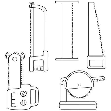 sawdust: vector set of saw