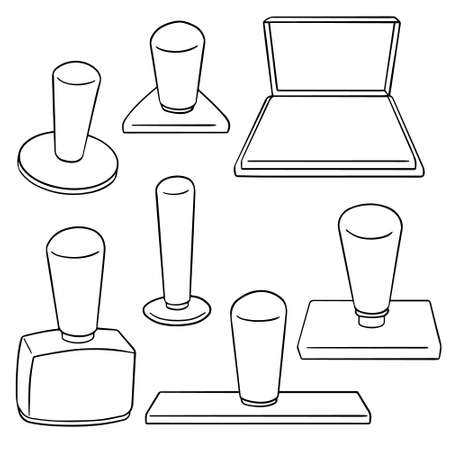 inkpad: vector set of rubber stamp