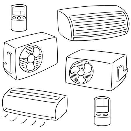 jeu de climatiseur Vecteurs
