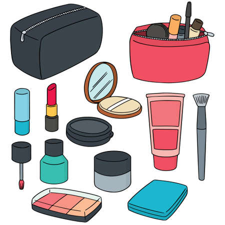 vector set of cosmetic Illustration