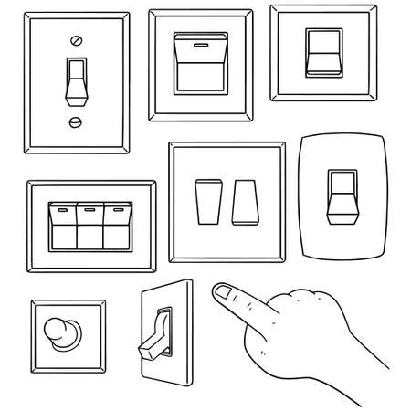flick: vector set of electric switch Illustration