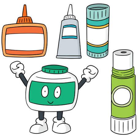 vector conjunto de pegamento Ilustración de vector
