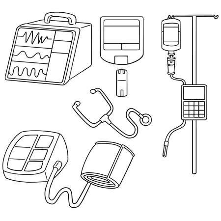 device: vector set of medical device Illustration