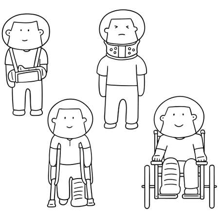 cast: set of orthopedic cast Illustration