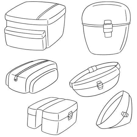 pannier: set of bicycle bag