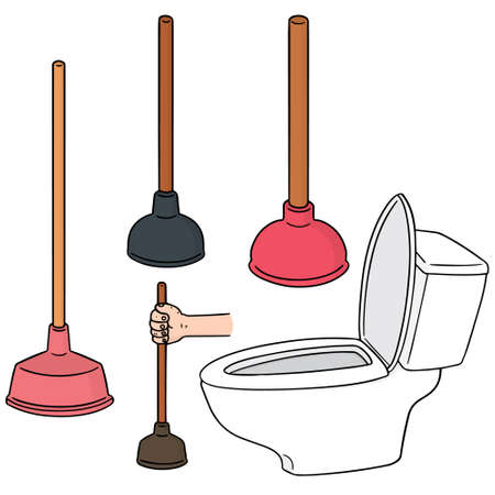 unblock: set of toilet rubber pump