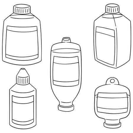 saline: set of medical saline solution Illustration