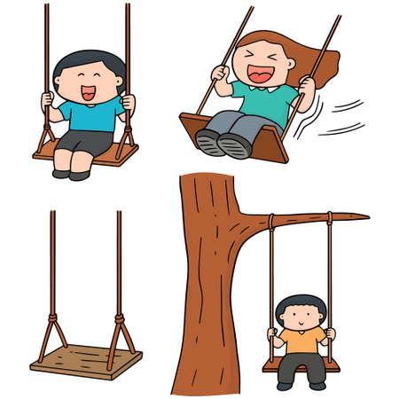 set of kid swing