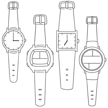 set of watch Illustration