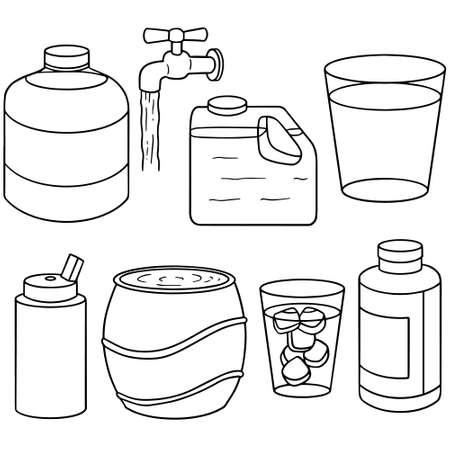 set of water Illustration