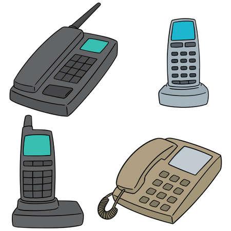 telecommunication: set of telephone