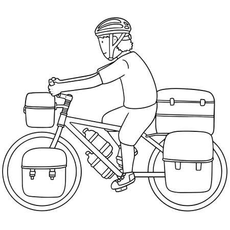 pannier: set of touring bicycle Illustration