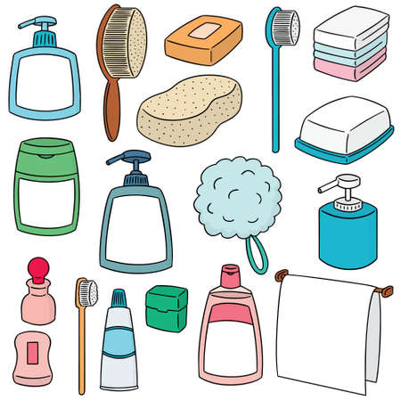 vector set of bathroom accessories