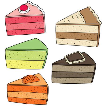 illustrating: vector set of cake Illustration