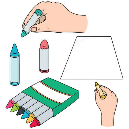 illustrating: Vector set of crayon Illustration