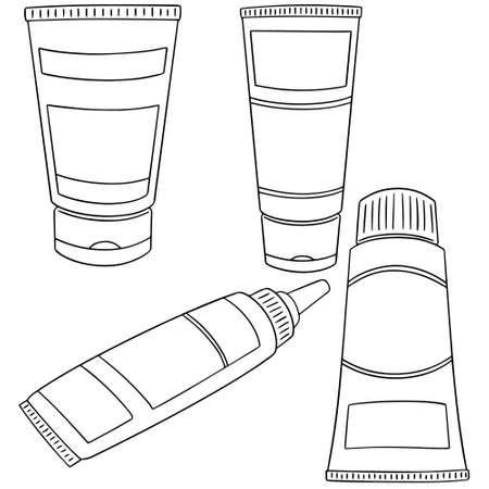 Vector set of topical cosmetic and topical medicine Stok Fotoğraf - 82628077