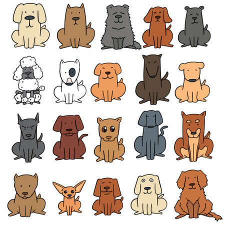 犬のベクトルを設定  イラスト・ベクター素材