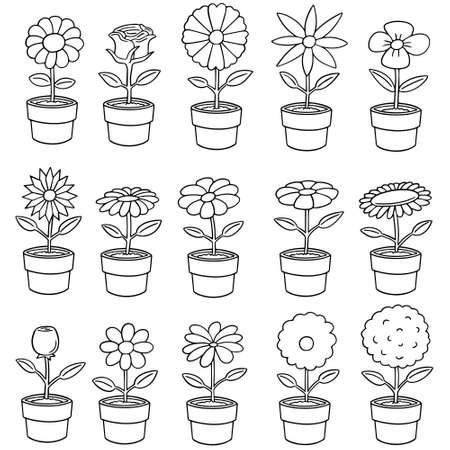 illustrates: Vector set of flower Illustration