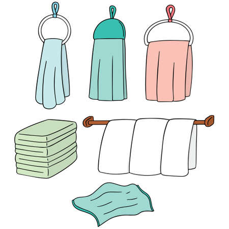 hangers: vector set of hand towel