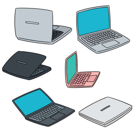 touchpad: vector set of laptop