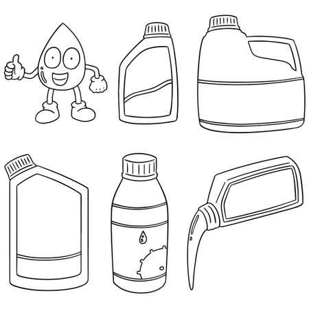 illustrates: vector set of lubricant oil Illustration