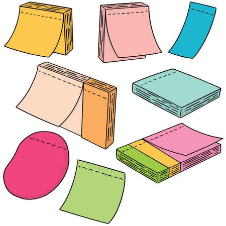 wektor zestaw notatek notatki Ilustracje wektorowe