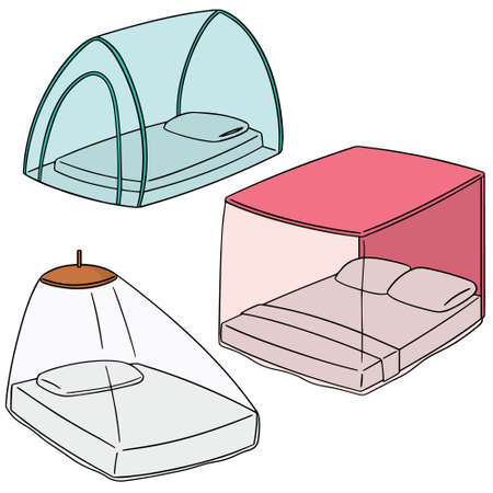vector set of mosquito net