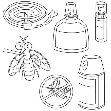 malaria: vector set of mosquito repeller