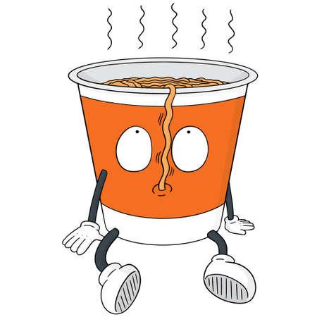 vector set of noodle cartoon