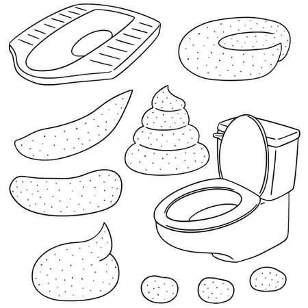 digestive: vector set of poop