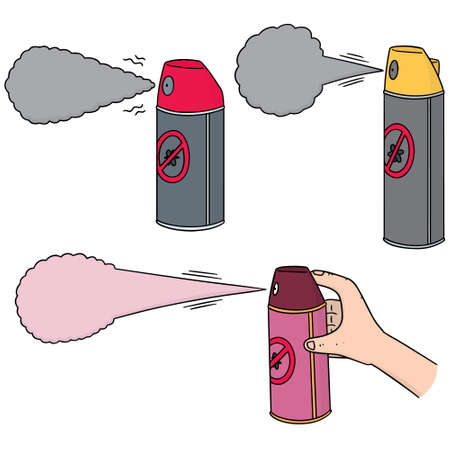 cute guy: vector set of pest killer spray Illustration