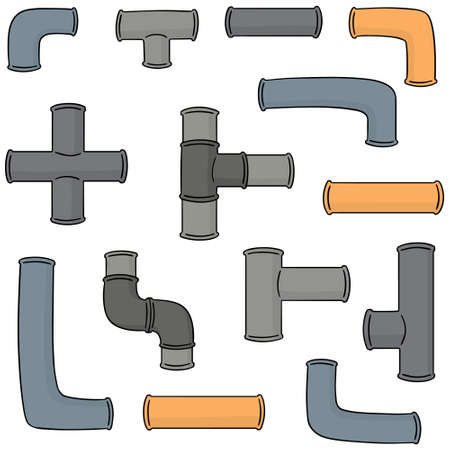 oil and gas industry: vector set of pipe Illustration