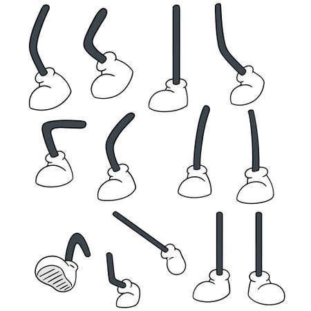 cute cartoon: vector set of cartoon leg