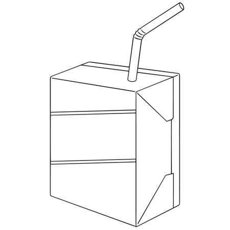 cute cartoon: vector set of milk box